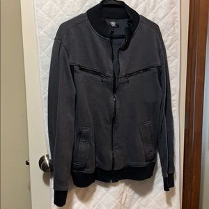 Rock & Republic zippered gray and black jacket